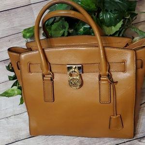 Michael Kors Hamilton Large Leather Satchel